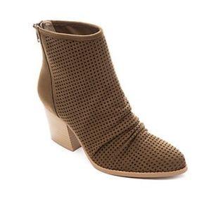 NEW Kaari Blue Frankie Suede Ankle Boots Olive